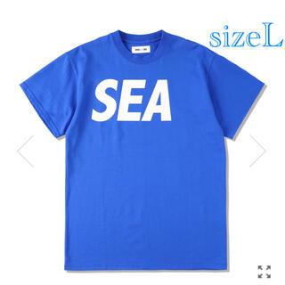 SEA - WIND AND SEA Tシャツ Blue White L