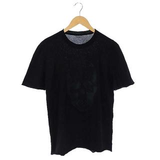 ルシアンペラフィネ(Lucien pellat-finet)のルシアンペラフィネ ニット カットソー 半袖 ドクロ スカル 刺繍 S ブラック(Tシャツ/カットソー(半袖/袖なし))
