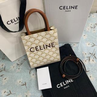 celine - Celine キャンバス & プリント入りカーフスキン