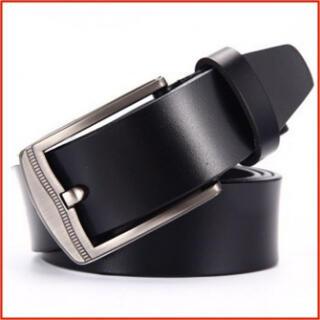 人気 本革ベルト ビジネスベルト メンズ レディース シンプル 黒 2