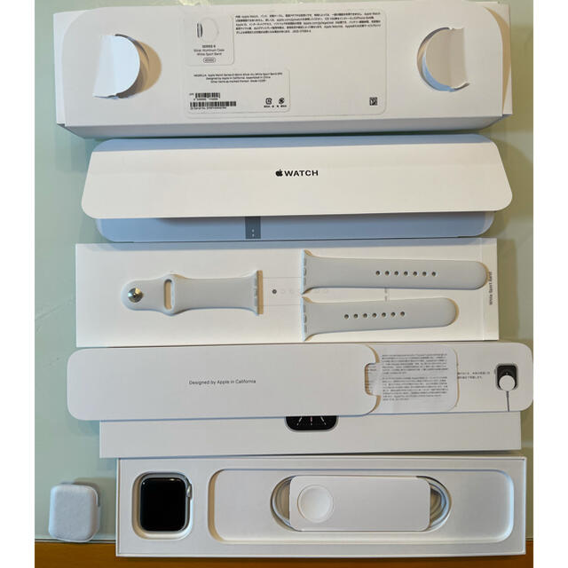 Apple Watch(アップルウォッチ)のApple Watch Series 6 40mmシルバーアルミ ホワイトバンド メンズの時計(腕時計(デジタル))の商品写真