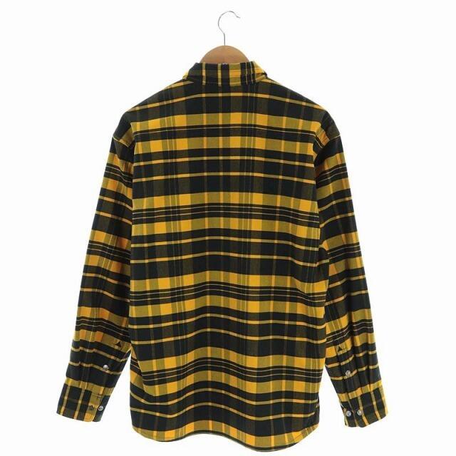 THE NORTH FACE(ザノースフェイス)のザノースフェイス ロングスリーブストレッチフランネルシャツ 長袖 L 黄 黒 メンズのトップス(シャツ)の商品写真