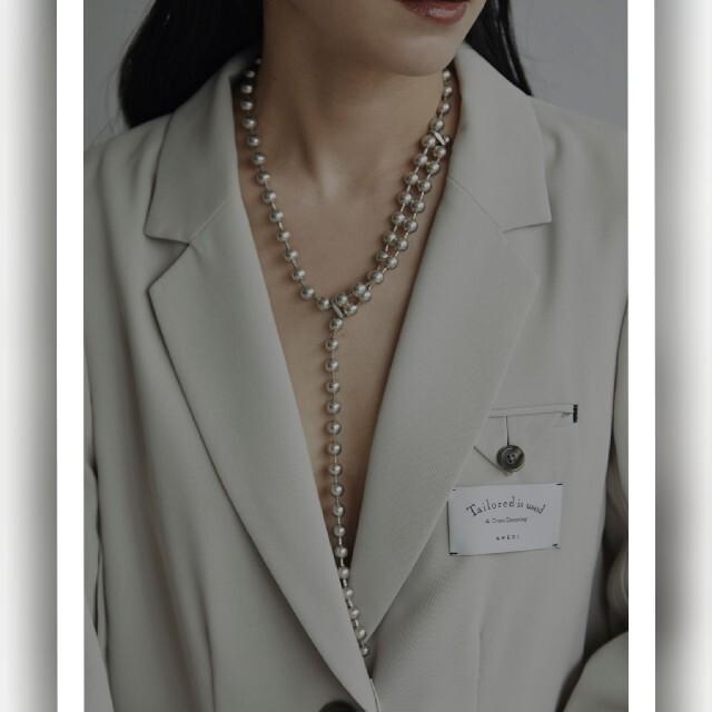 Ameri VINTAGE(アメリヴィンテージ)のAmeri BALL CHAIN ONE ROUND NECKLACE レディースのアクセサリー(ネックレス)の商品写真