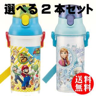 アナトユキノジョオウ(アナと雪の女王)の選べる2本セット 水筒 食洗機対応直飲み 480ml 子供水筒 スケーター(水筒)