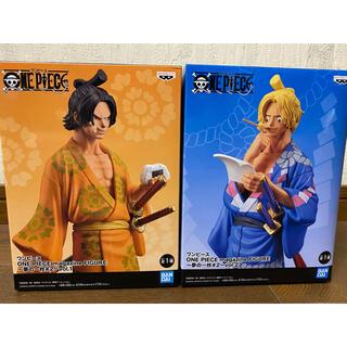 BANDAI - ワンピース エース サボ 夢の一枚 フィギュア 2種セット