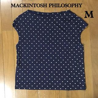 MACKINTOSH PHILOSOPHY - マッキントッシュフィロソフィー トップス M  ドット柄 黒色