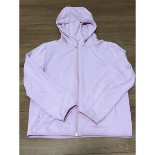 ユニクロ(UNIQLO)のエアリズム パーカー キッズ 120サイズ ピンク(ジャケット/上着)