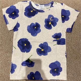 hakka kids - hakka kids すみれ柄 Tシャツ
