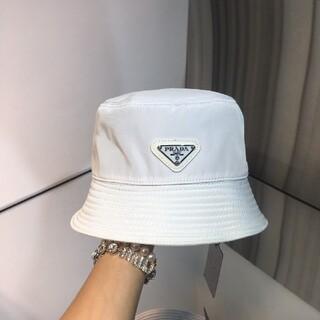 プラダ(PRADA)の大人気   リバーシブル  プラダ ナイロン ハット 帽子 白#201(ハット)