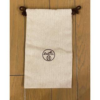 Hermes - HERMES 布製 巾着袋