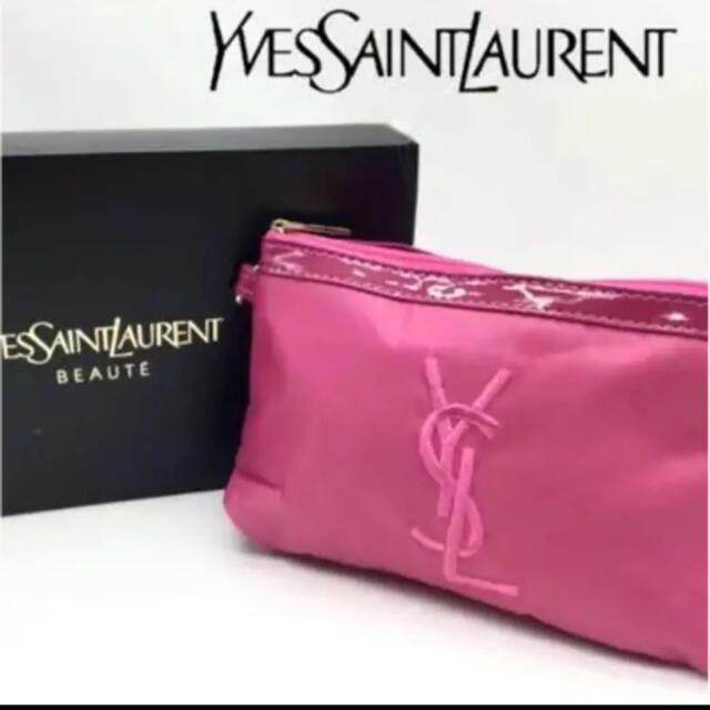 Yves Saint Laurent Beaute(イヴサンローランボーテ)のイブサンローラン、非売品ノベルティポーチ レディースのファッション小物(ポーチ)の商品写真