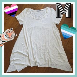 レディース 白 ホワイト Tシャツ ロング M Moden dee