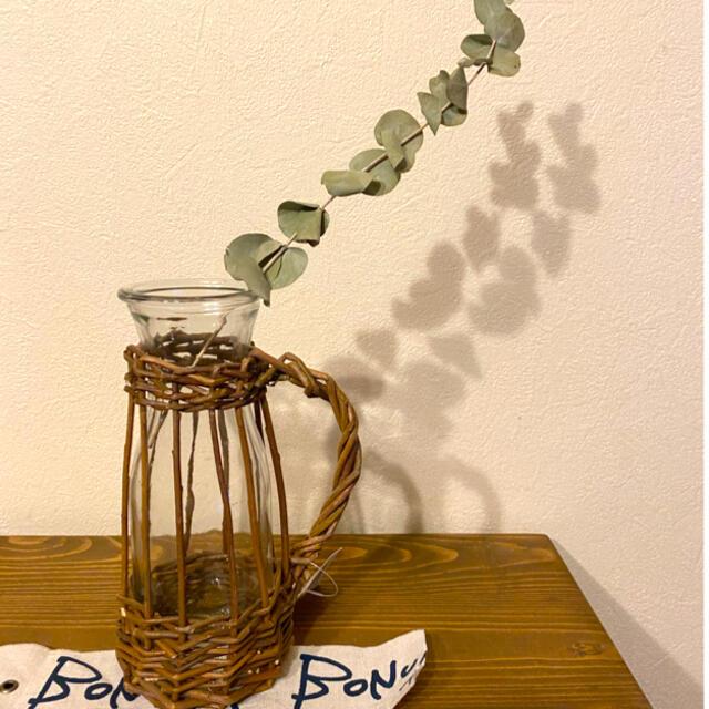 ラタンカバー付きガラスフラワーベースSALE minami様 インテリア/住まい/日用品のインテリア小物(花瓶)の商品写真
