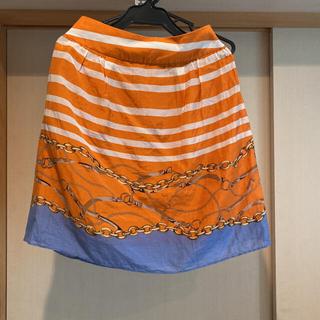 フレームワーク(FRAMeWORK)のスカーフスカート 38サイズ シルク混 フレームワークス(ミニスカート)