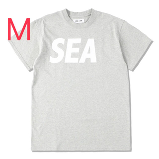 SEA - WIND AND SEA S/S  H.GRAY-WHITE T-SHIRT M