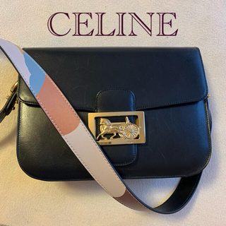 celine - セリーヌ サルキー クラシックボックス 馬車金具 ショルダーバッグ 斜め掛け