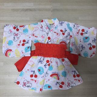 Disney - ミニー 甚平 浴衣 ワンピース 90センチ