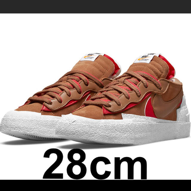 sacai(サカイ)の28cm Sacai Nike Blazer Low British Tan メンズの靴/シューズ(スニーカー)の商品写真