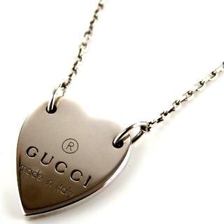 Gucci - GUCCI グッチ トレードマーク ハートプレート ネックレス 17-382