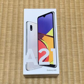 Galaxy - Galaxy A21  ホワイト SIMフリー