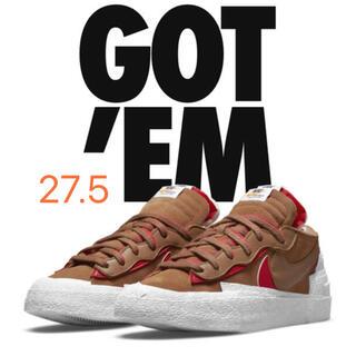 sacai - Sacai × Nike Blazer Low British Tan 27.5