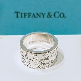 Tiffany & Co. - ティファニー ノーツワイドリング 9号