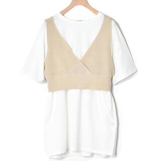 w closet - w closet ビスチェ×BIGTシャツSET ベージュ