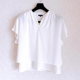 インディヴィ(INDIVI)のINDIVI ホワイトカットソー(カットソー(半袖/袖なし))