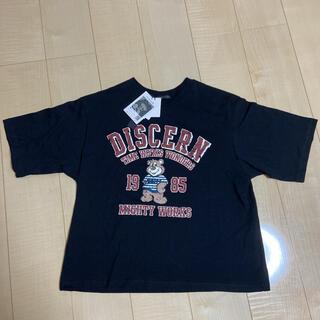 しまむら - しまむら クマガレッジロゴTシャツ PLYMTONE