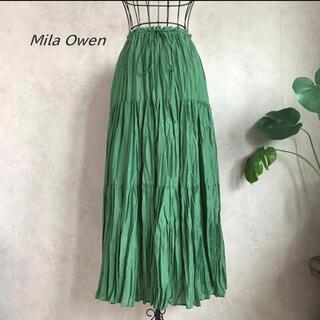 Mila Owen - 【美品】ミラオーウォン ワッシャーマキシティアードスカート