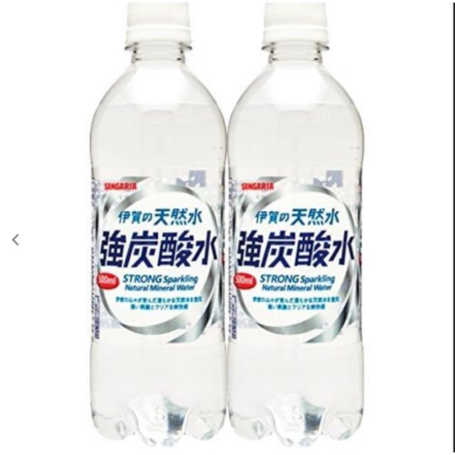 天然水 強炭酸水 炭酸水 500ml 48本 伊賀の天然水 強炭酸水 送料無料  食品/飲料/酒の飲料(ミネラルウォーター)の商品写真