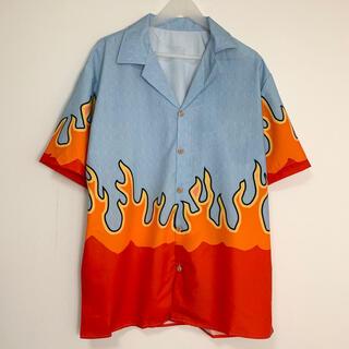 ファイヤーパターン アロハシャツ 半袖シャツ ファイヤー 炎