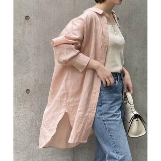 Noble - 新品 21SS NOBLE ノーブル リネンオーバーコクーンシャツ ピンク