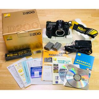 Nikon - ◆NikonD200◆ワンオーナー箱、付属品一式◆劣化度0の電池2個付プロスト別