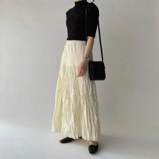 nairo   ワッシャープリーツスカート  ショート アイボリー