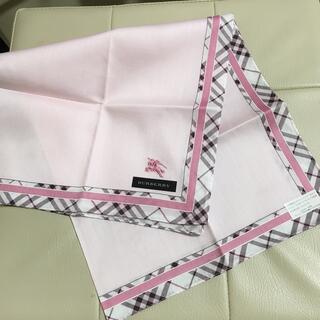 BURBERRY - バーバリー BURBERRY◎大判 ハンカチ ピンクドット☆新品
