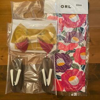 GRL - グレイル GRL 浴衣 花柄 作り帯 げた