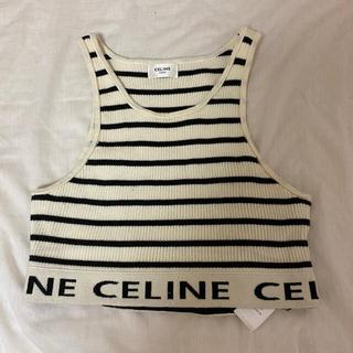 celine - CELINE ストライプスポーツブラ
