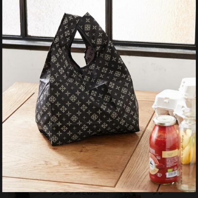 Russet(ラシット)のデイリーラシット ポケッタブルエコバッグ ブラック 新品 レディースのバッグ(エコバッグ)の商品写真