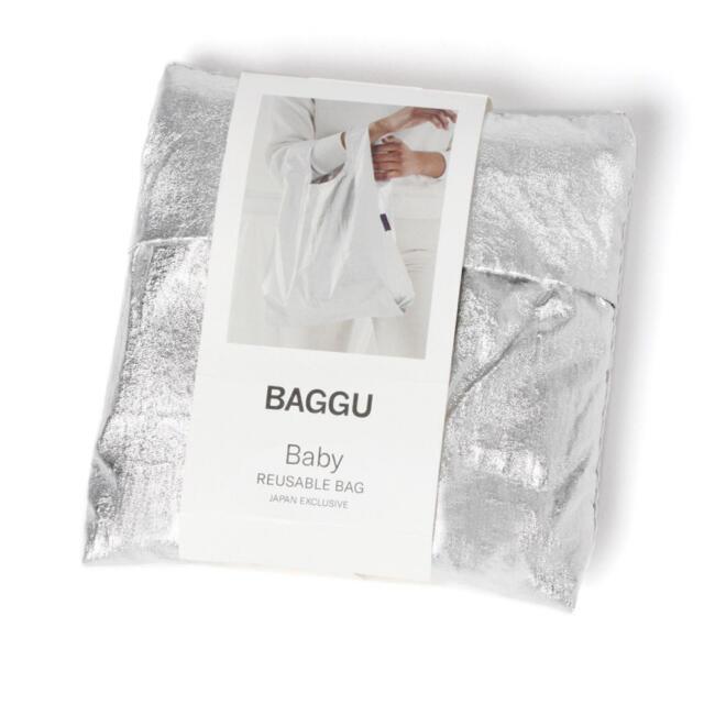 BAGGU バグゥ メタリックBABY 21SS シルバーグレー レディースのバッグ(エコバッグ)の商品写真