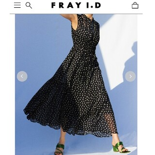 FRAY I.D - 【未使用】FRAY I.D SPRINTEXプリントギャザーワンピース