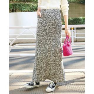 IENA SLOBE - SLOBE IENA小花柄マーメイドロングスカート36