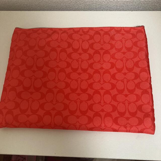COACH(コーチ)のCOACH コーチ ポーチ ノート ノートカバー レッド 赤 カード入れ ♡ レディースのファッション小物(ポーチ)の商品写真