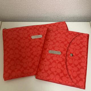 COACH - COACH コーチ ポーチ ノート ノートカバー レッド 赤 カード入れ ♡