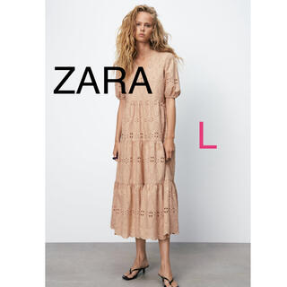 ZARA - ZARA カットワーク刺繍ワンピース L