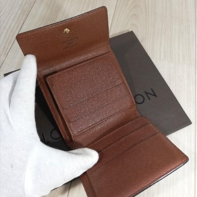 LOUIS VUITTON(ルイヴィトン)の☆極美品本物鑑定済ルイヴィトンモノグラムWホック折財布 メンズのファッション小物(折り財布)の商品写真