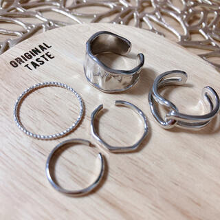 ザラ(ZARA)のシルバーリング セット(リング(指輪))