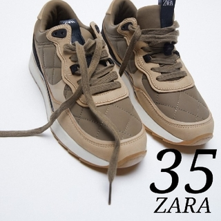 ZARA - 新品 キルティング スニーカー 35  完売品