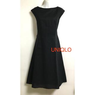 UNIQLO - UNIQLO    綿混 ワンピース 黒 L