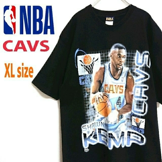 NBA CAVS  カブス  ショーンケンプ ビッグサイズ 黒 バスケ Tシャツ